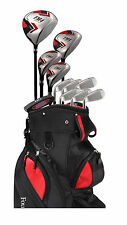Founders Club Mens Left Handed Golf Club Set - FM4 w/ Cart Bag, All Graphite