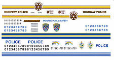 Arkansas - Monroe - Mauri Police 1/25th - 1/24th Scale Waterslide Decals