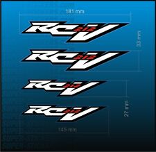 4x RC212V Sticker DECAL Aufkleber Autocollant Adesivo Pegatina Badge HONDA RCV