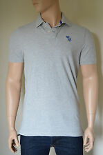 NEW Abercrombie & Fitch Mount Marshall Polo Shirt Light Grey Moose XL RRP £72