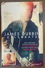 Music Poster Promo James Durbin ~ Celebrate ~ DS Double Sided