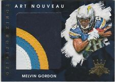 2015 GRIDIRON KINGS MELVIN GORDON RB CHARGERS ROOKIE ART NOUVEAU 4 CL PATCH /49