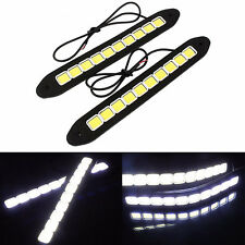 2Pcs 20W Waterproof LED 12V Daytime Running Light DRL COB Strip Lamp Fog Car