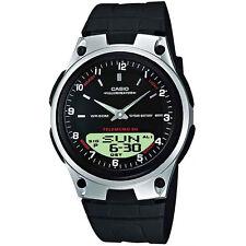 Casio Orologio aw-80-1a Analogico Digitale Uomo Donna in Acciaio Inox Nero Watch NUOVO & OVP