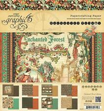 Graphic 45 ENCHANTED FOREST 8x8 Paper Pad Castle Medieval 24 Sheets Mixed Media