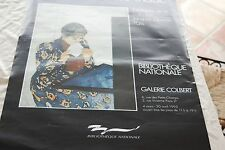 AFFICHE DE L EXPOSITION DE GOYA A MATISSE COLLECTION JACQUES DOUCET