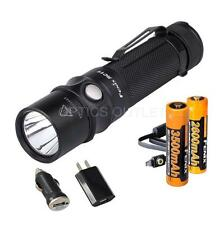 Fenix RC11 1000 Lumen USB Rechargeable LED Flashlight w/ Extra 18650 Battery