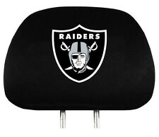 Oakland Raiders Auto Head Rest Covers 2 Pack [NEW] NFL Car Seat Headrest CDG