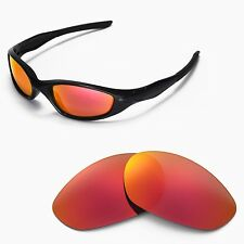 New WL Polarized Fire Red Replacement Lenses For Oakley Minute 2.0 Sunglasses