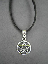 Silver Metal Pentagram Pendant ~ Pagan ~ Wicca ~ Ideal Gift ~ With Cord Necklace