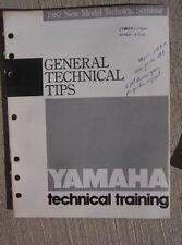1987 Yamaha Motorcycle ATV Riva Service Manual  General Technical Tips L