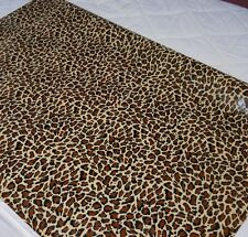 "Leopard Print Oil Cloth 47"" wide by the 1/2 Yard"