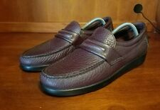 Men SAS Grain Leather Loafer Slip On Shoes Size 9.5 S