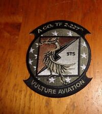 U.S.ARMY AVIATION PATCH, A CO.TF 2nd BN 227TH AVIATION REGIMENT, STS