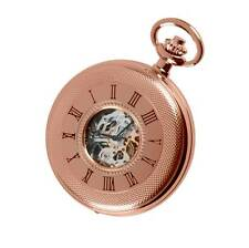 Woodford Rose Gold Plated Mechanical Half Hunter Pocket Watch. ref 1092
