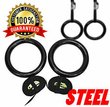Senshi Japan Olympics Fitness Rings Pull Ups Gymnastic Training Crossfit - STEEL