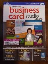 NEW  Summitsoft Version 5.0 Business Card Studio Deluxe Disc & Download