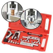 Flaring Swaging Tool Set Tube Cutter Pipe Repair Refrigeration Expander W/ Case