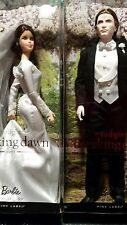 Twilight Breaking Dawn PINK LABEL Bella & Edward WEDDING BARBIE Dolls Set NRFB