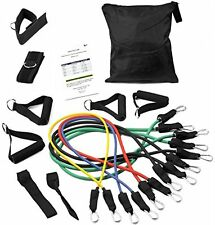 16-Piece Heavy Duty Exercise Resistance Bands Set - w Carry Case & Ankle Strap