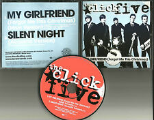 CLICK FIVE 2 Rare CHRISTMAS My Girlfriend /Silent Night ACOUSTIC PROMO CD Single