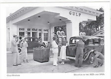 "*Postcard-""The Gulf (Gas) Station""-Houston, Texas in the 1920's & 1930""s- (#5)"