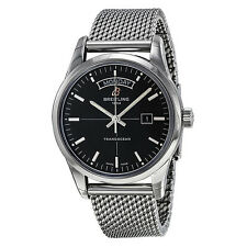 Breitling Transocean Automatic Black Dial Stainless Steel Mens Watch A4531012