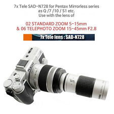 Tele lens for Pentax Q series with 5-15mm & 15-45mm zoom lens