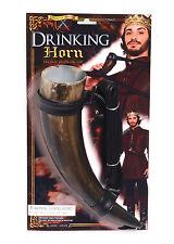 Médiéval drinking horn avec ceinture adulte pour fancy dress party