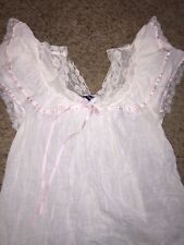Romantic Vintage Lily Of France Nightgown Cotton Lace Medium