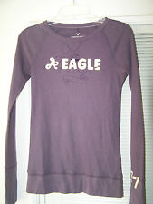 LOT OF 2 AMERICAN EAGLE SZ M LS LONG SLEEVED SHIRTS LONG JOHN TEXTURE PAJAMAS