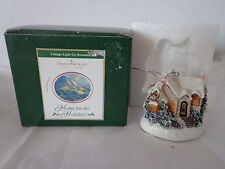Thomas Kinkade Resin Christmas Moonlight LED House Ornament New In Box