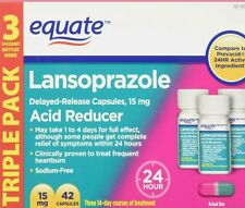 Equate Lansoprazole 42 Capsules 15 mg 24 Hour Acid Reducer  exp 02/17