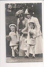 Vintage Postcard  Queen Louise of Denmark & Grandchildren