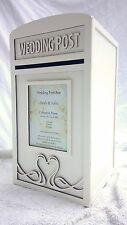Large White Wedding Card Post Box - Fully Assembled 'Swan Design'
