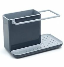 Joseph Joseph Sink Caddy, Kitchen Soap and Sponge Holder, Dark Grey and Grey