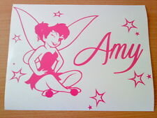 fun personalised hot pink tinkerbell fairy dust stars girls vinyl car sticker vw