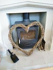Large Willow Wicker Woven Wreath 60cm! Heart - Natural Rustic Wedding Decoration