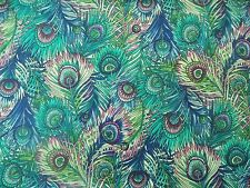 WtW Estate Fabric Hoffman Glass Garden C804 Peacock Feathers Bird BTY Quilt