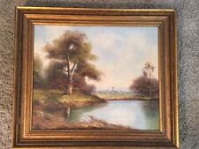 "Original Oil Landscape Painting Framed, 20""x24"""