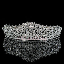 Elegant Crystal Tiara Wedding Bridal Floret Diamante Crown Headpiec Hair Jewelry