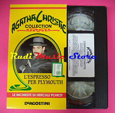 VHS film L'ESPRESSO PER PLYMOUTH Agatha Christie collection DEA (F88) no dvd
