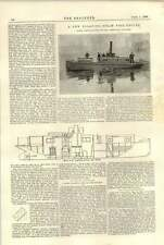 1896 nouveau flottant steam fire engine photographies section greenwich works