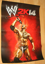 2k14 WWE 2014 Promo Poster Rock from Gamescom 2013 very Rare 59x84cm