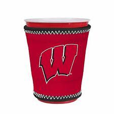 Wisconsin Badgers Kup Holder Coolie for Solo Cup, Pint Glass, Coffee by Kolder