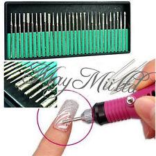 30Pcs Nail File Art Drill Bit Machine Manicure Craft Needle Replacement Kit Z