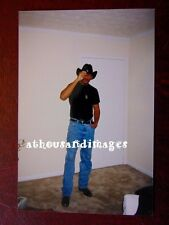 Vtg Photo of Sexy African American Military Cowboy Man Tipping Hat Posing R37