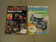 LOT OF 2 CLASSIC MOTORCYCLE MAGAZINES,1991,1997,ARIEL BSA,ZUNDAPP,MILITARY BIKES