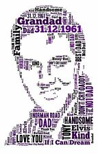 Word Art Print for ELVIS personalised gift A4 xmas birthday anniversary