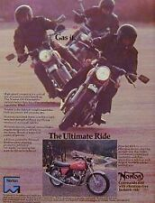 1975 NORTON 850 COMMANDO Original  Motorcycle Ad GAS IT 1975